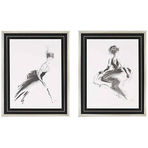 "Set of 2 Odette/Rene 30"" High Framed Wall Art"