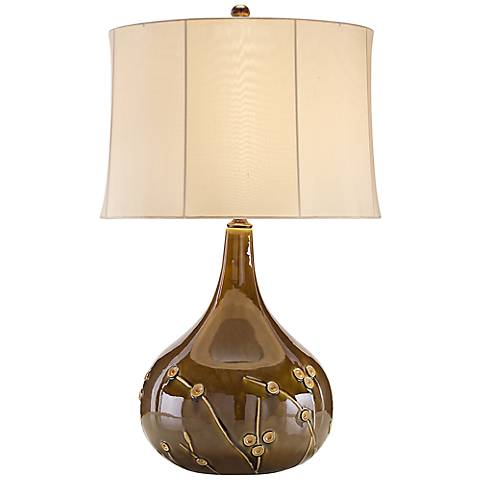 John Richard Gretchen Floral Relief Table Lamp
