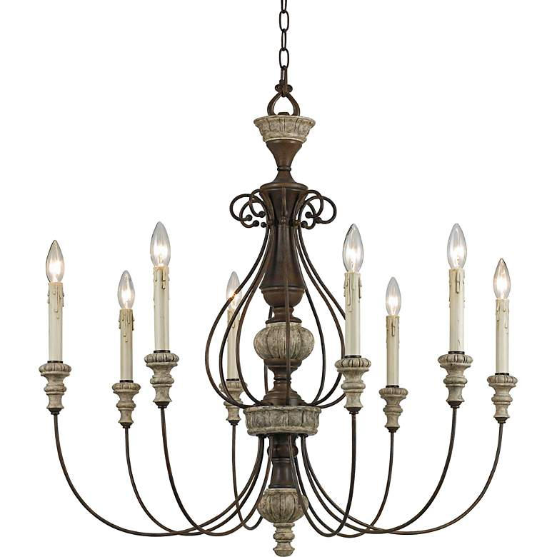 """Williams Collection 30"""" Wide Rust Chandelier"""