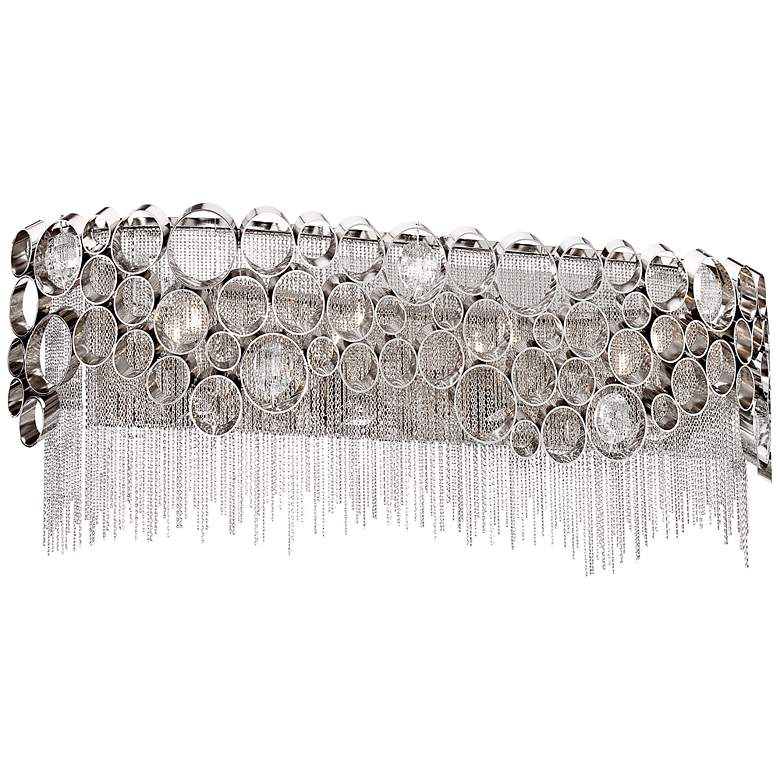 """Cameo Collection 20"""" Wide Polished Nickel Bathroom Light"""