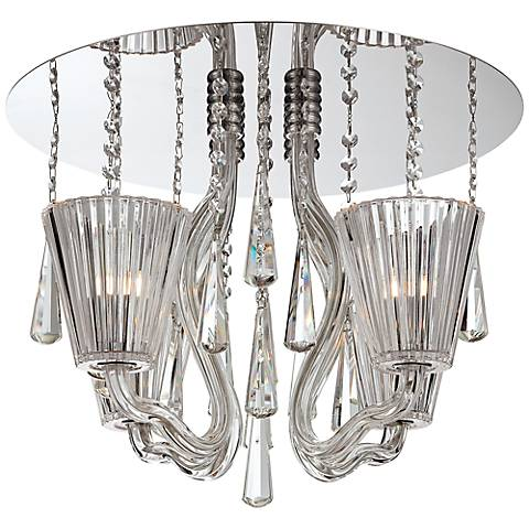 "Corato Collection 17 3/4"" Wide Clear Crystal Ceiling Light"