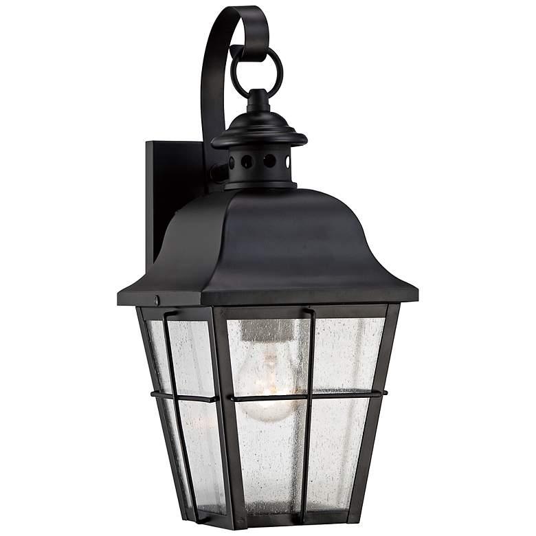"Quoizel Millhouse 15 1/2"" High Black Outdoor Wall Light"