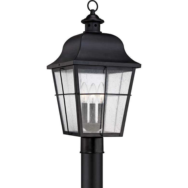 "Quoizel Millhouse 21 1/2"" High Black Outdoor Post Light"