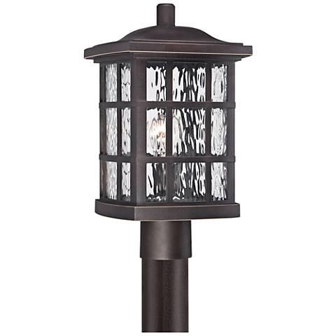 "Quoizel Stonington 16 1/2"" High Bronze Outdoor Post Light"