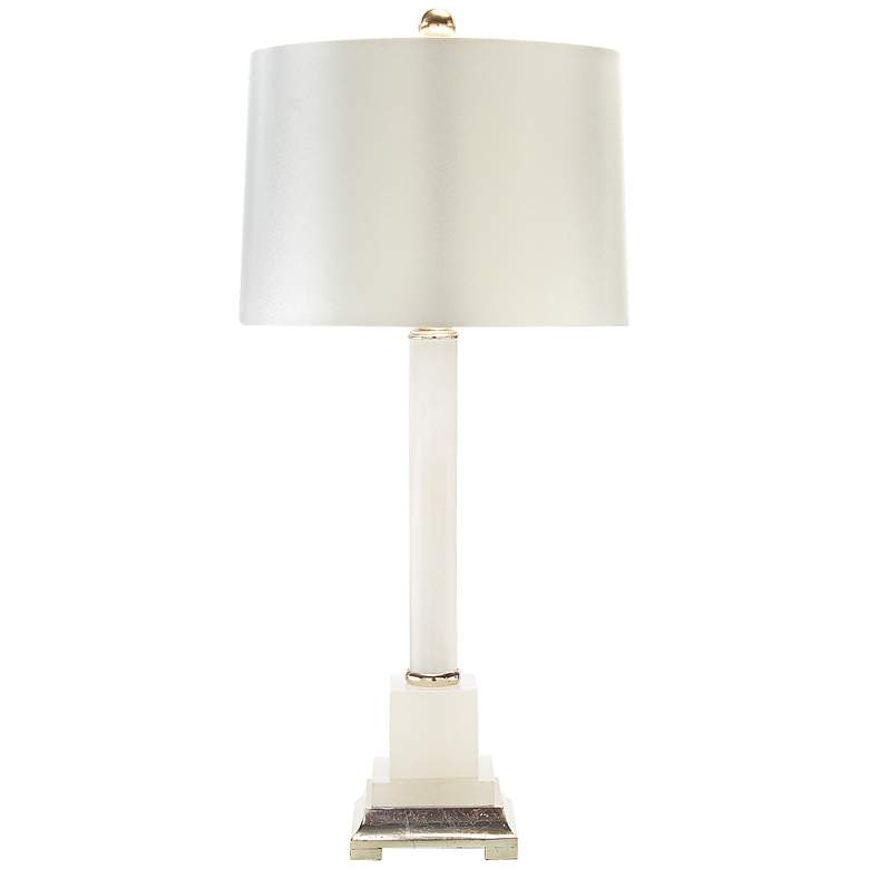 John Richard Roman Column Alabaster Table Lamp