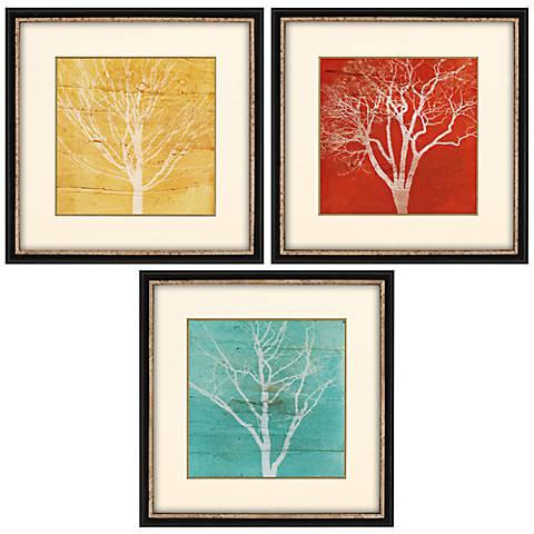 "Fallen Leaves 3-Piece 19"" Square Wall Art Set"