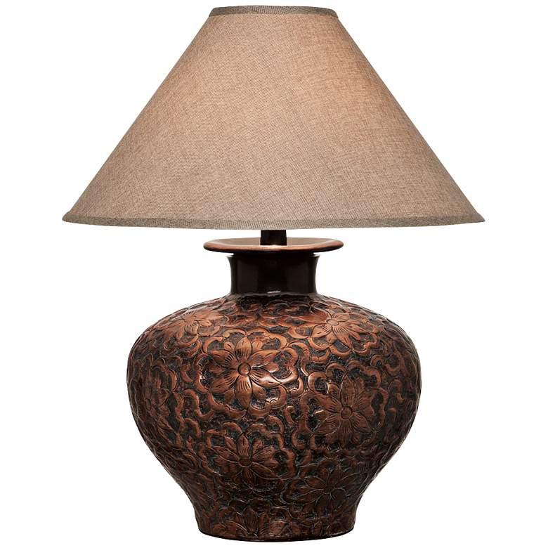 Arbon Floral Copper Table Lamp