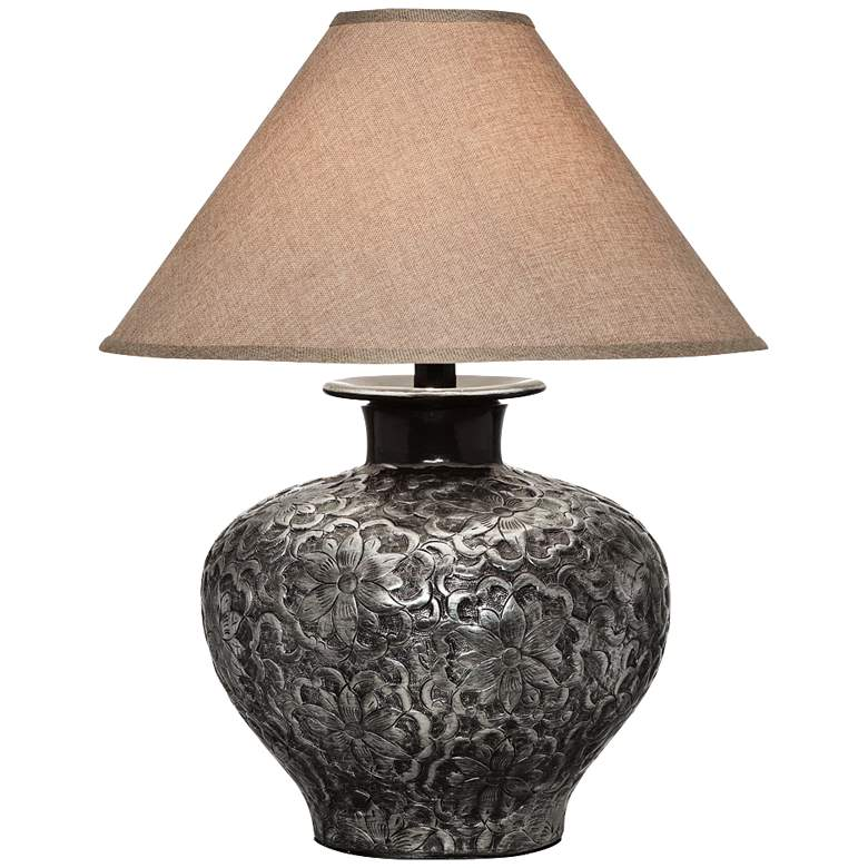 Arbon Floral Silver Table Lamp