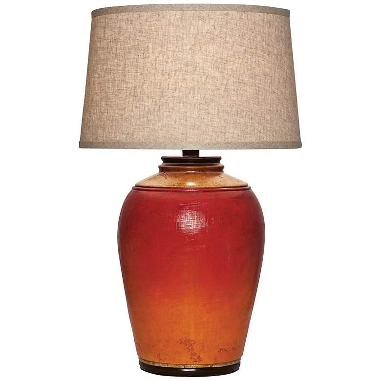 Kearny Light Redwood Urn Table Lamp