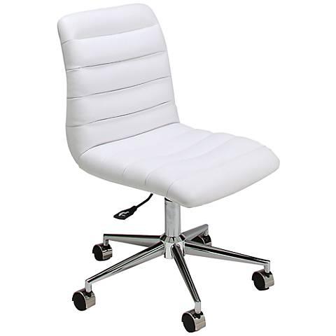 Impacterra Hawthorne Ivory Adjustable Armless Office Chair