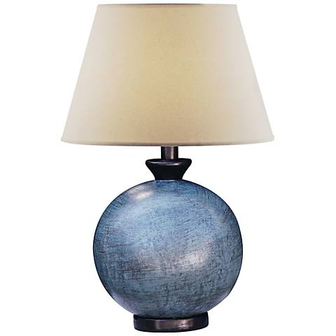 Pitkin blue round table lamp 5g075 lamps plus pitkin blue round table lamp aloadofball Image collections