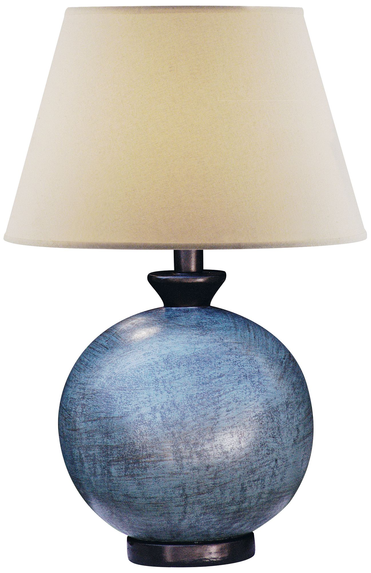 Perfect Pitkin Blue Round Table Lamp