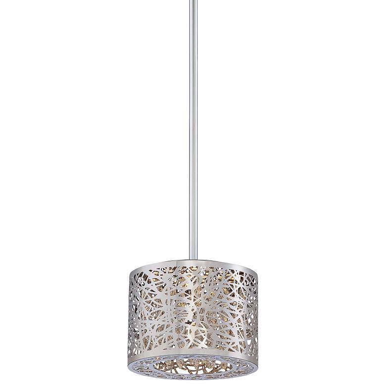 "George Kovacs Hidden Gem 7"" Wide Chrome LED Mini Pendant"