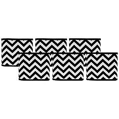 3 to 7 inch chandelier shades lamp shades lamps plus black and white chevron lamp shades 5x5x5 set of 6 clip on aloadofball Gallery