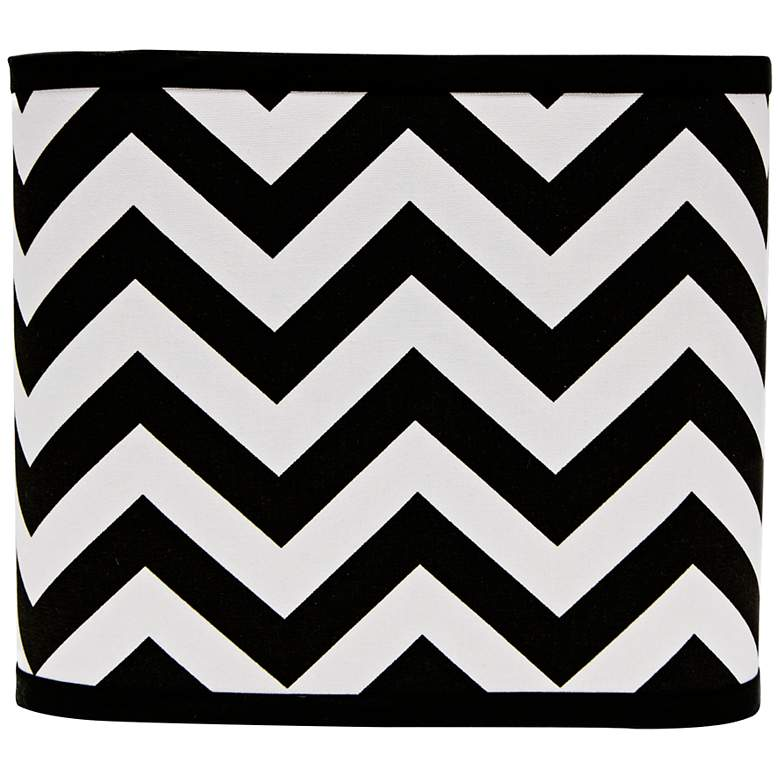 Black and White Chevron Lamp Shade 11x11x9.5 (Spider)