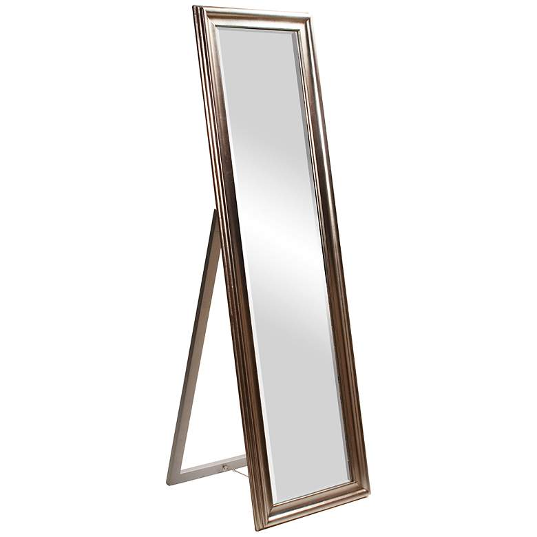 "Howard Elliott Taylor Silver Leaf 20"" x 60"" Standing Mirror"