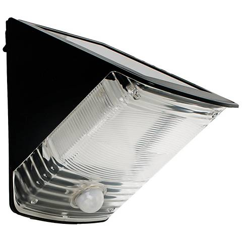 Black Wedge Solar Powered LED Security Light