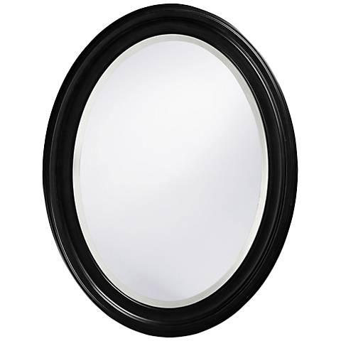 "Howard Elliott George 25"" x 33"" Oval Black Mirror"