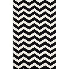 Safavieh Chatham CHT715A 5'x8' Black/Ivory Chevron Rug