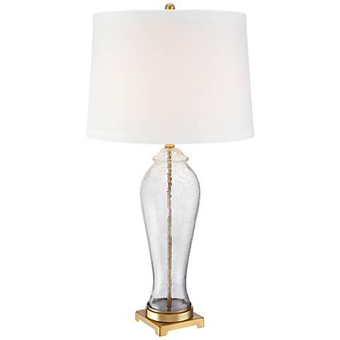 Bakarat Soria Brass Crackle Vase Table Lamp