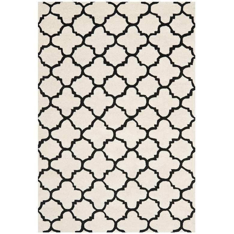 Safavieh Chatham CHT717A 5'x8' Ivory/Black Wool Rug