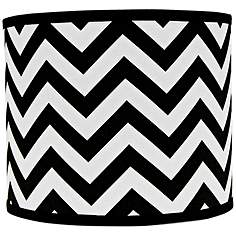 8 to 12 inch small table lamps black lamp shades lamps plus black and white chevron drum lamp shade 12x12x10 spider aloadofball Images