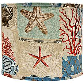 Nautical Patchwork Lamp Shade 12x12x10 Spider