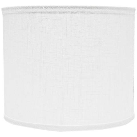 White linen drum lamp shade 12x12x10 spider 5g800 lamps plus white linen drum lamp shade 12x12x10 spider mozeypictures Images