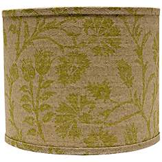 Green country cottage lamp shades lamps plus muted green floral lamp shade 16x16x13 spider aloadofball Gallery