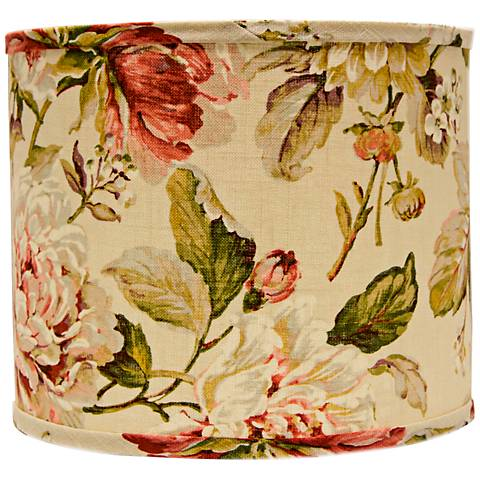 Large Rose Floral Drum Lamp Shade 12x12x10 (Spider)