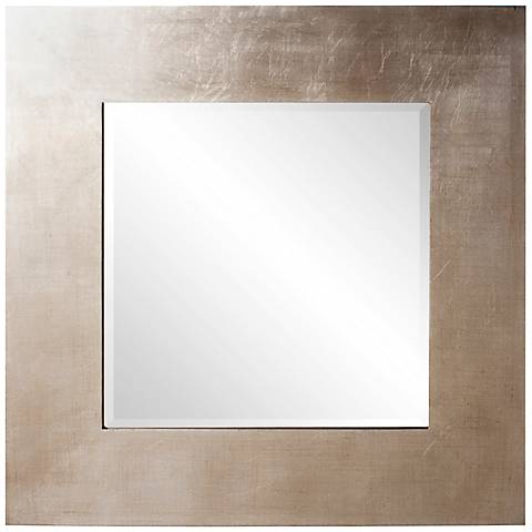"Howard Elliott Sonic Silver 32"" Square Wall Mirror"