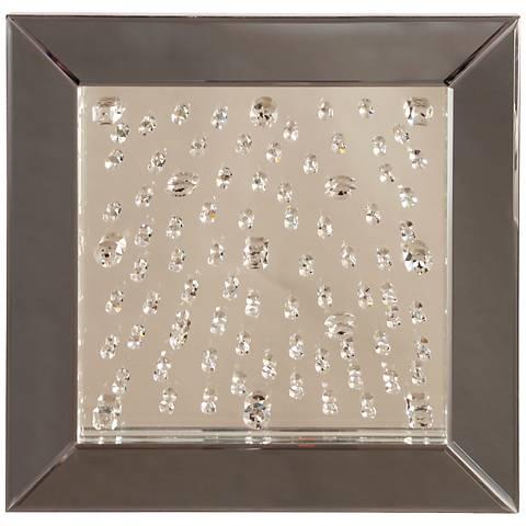 """Howard Elliott Bliss Crystal 20"""" Square Wall Mirror"""