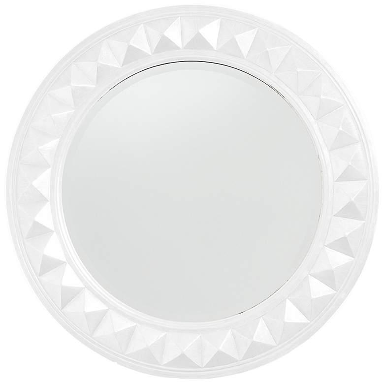 "Howard Elliott Fantasia 32"" Round White Wall Mirror"