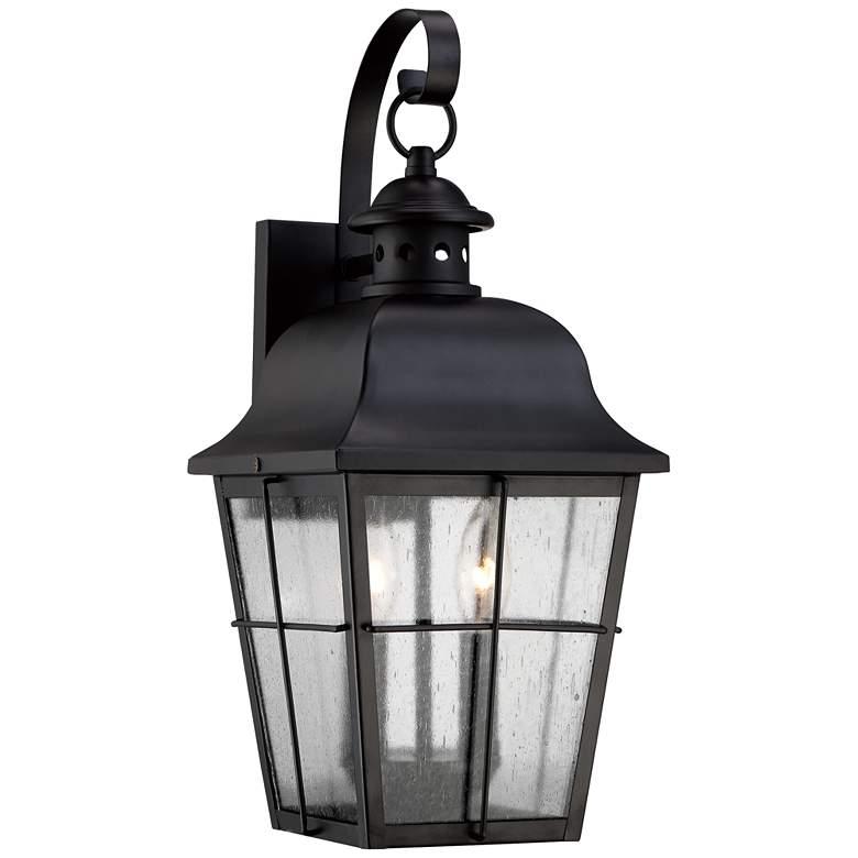 "Quoizel Millhouse 18"" High Black Outdoor Wall Light"