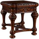 "Valencia 31"" Wide Dark Oak Victorian End Table"