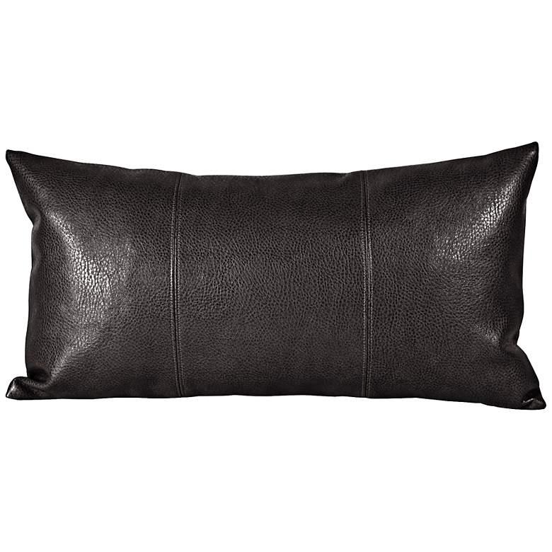 """Howard Elliott Sultry 22""""x11"""" Black Kidney Pillow"""