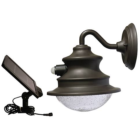 "Barn 12"" High Motion Sensor Solar LED Outdoor Wall Light"