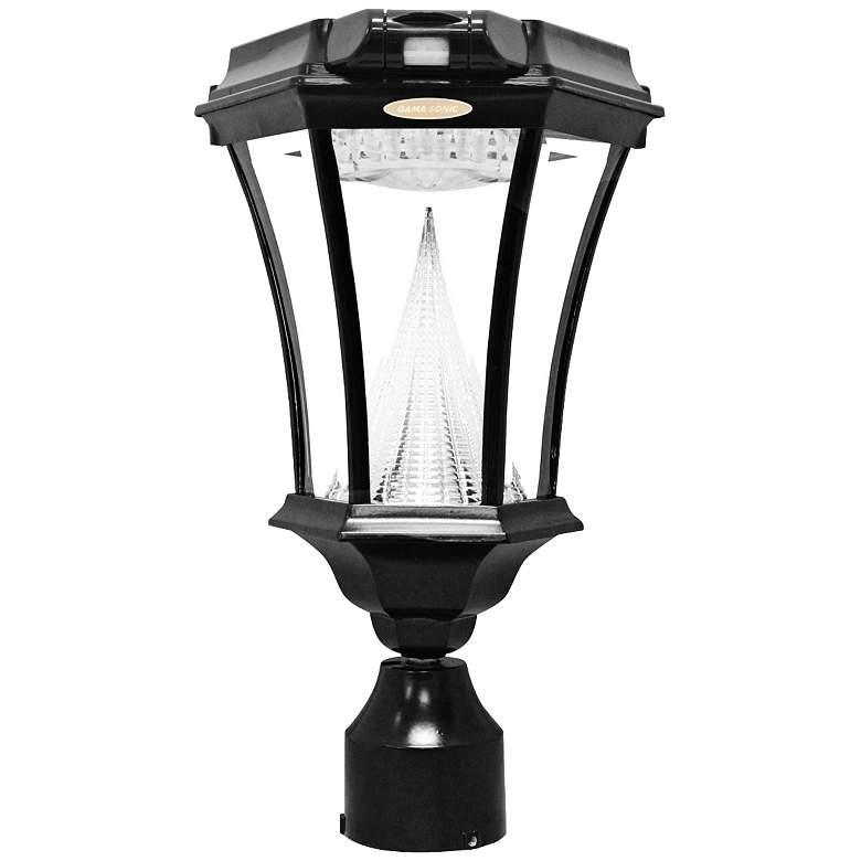 Victorian Black 3 Bracket Motion Sensor Solar LED Light