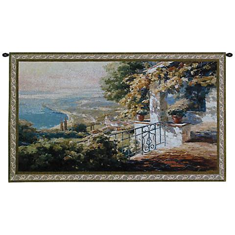 "Balcony 53"" Wide Wall Tapestry"