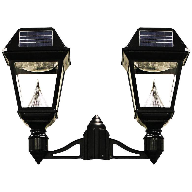 Imperial II Double Head Solar Power LED Outdoor Post Mount