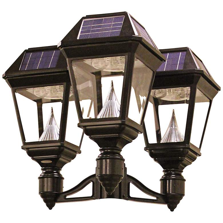 Imperial II Triple Head Solar Power LED Outdoor Post Mount