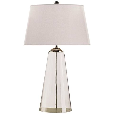 Currey and Company Atlantis Clear Glass Table Lamp