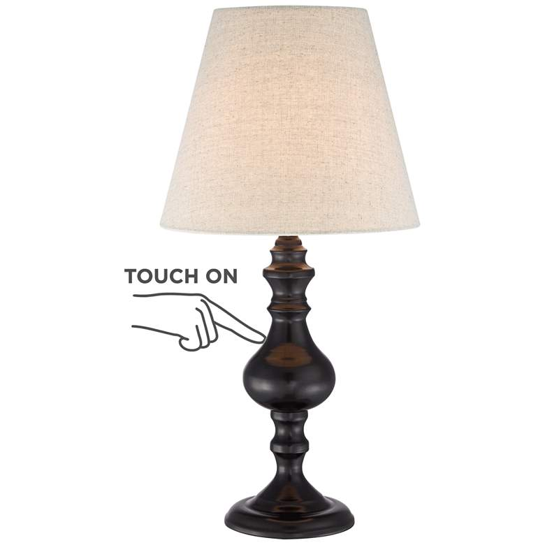 """Ted Dark Bronze 18 1/2"""" High Touch On-Off Accent Table Lamp"""