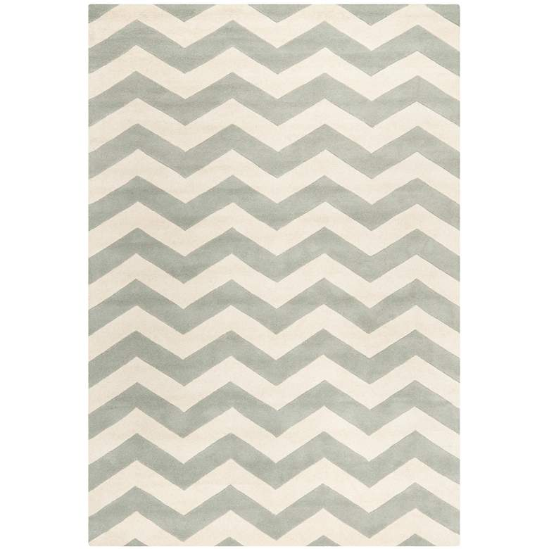 Safavieh Chatham CHT715E 5'x8' Light Gray/Ivory Chevron Rug