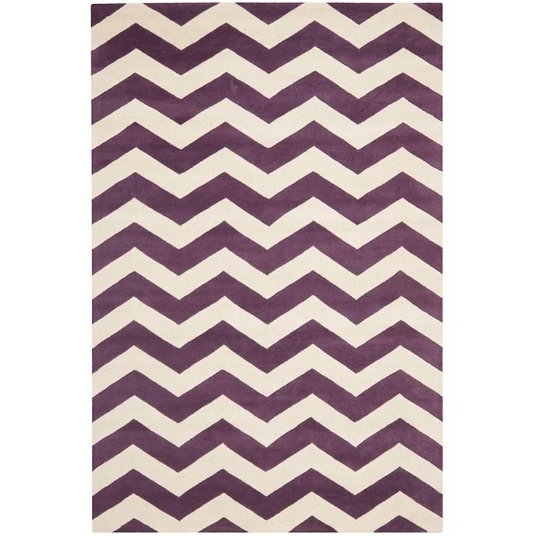 Safavieh Chatham CHT715F 5'x8' Purple/Ivory Chevron Rug