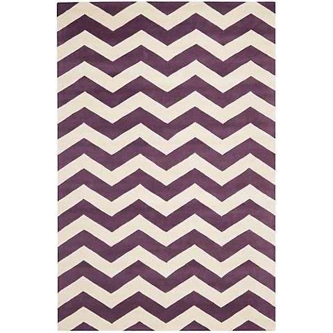 Safavieh Chatham CHT715F Purple/Ivory Chevron Rug