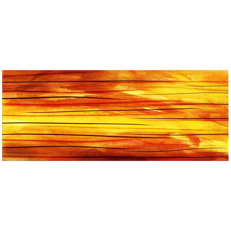 "Momentum 48"" Wide Contemporary Metal Wall Art"