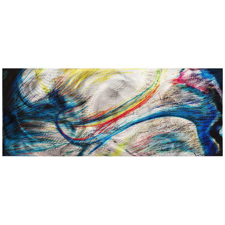 """Grace and Virtue 48"""" Wide Contemporary Metal Wall"""