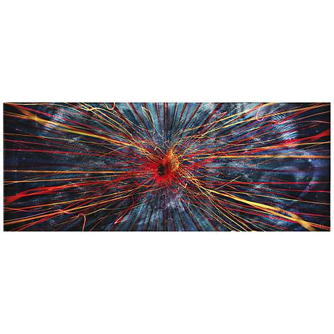 """Implosion 48"""" Wide Contemporary Metal Wall Art"""