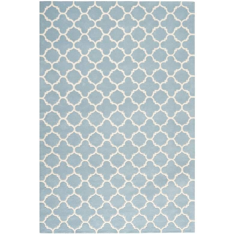 Safavieh Chatham CHT717B 5'x8' Blue/Ivory Wool Rug